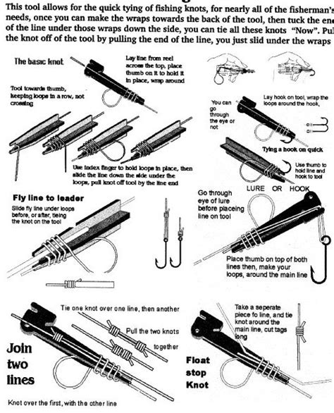 fishing knot tool flying fish 1001