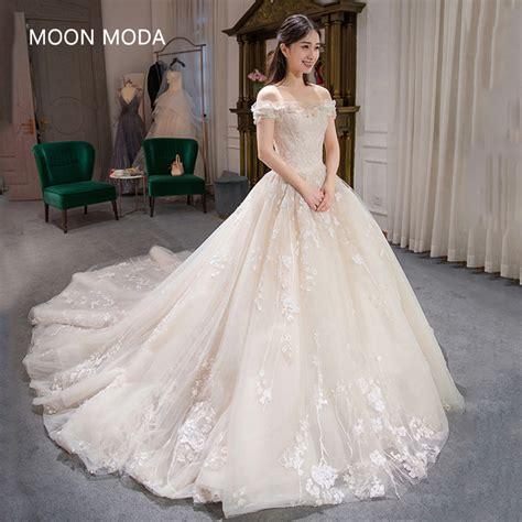 long  sleeve muslim lace wedding dress high quality