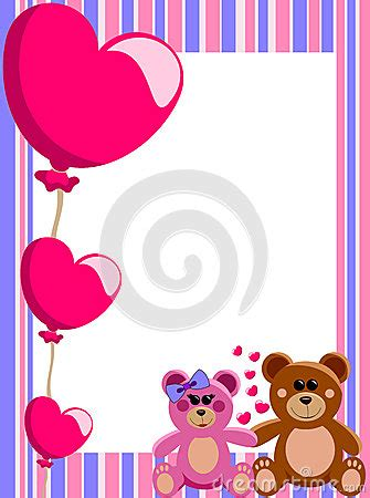 love vertical frame teddy bears stock image image
