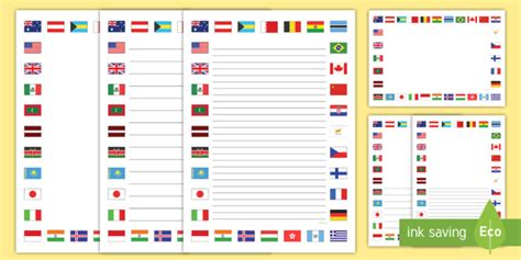 flags of the world twinkl flags of the world page border pack flag page borders