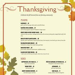 thanksgiving menue thanksgiving menu template doliquid