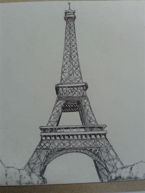 imagenes cool de la torre eiffel peque 241 o dibujo de la torre eiffel a boli bic dibujos