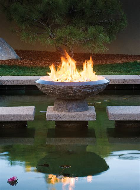 granite fire pit  stone forest  fire vessels