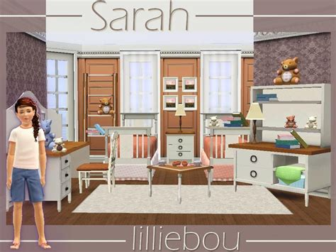 sims 3 bedroom sets lilliebou s sarah kids bedroom