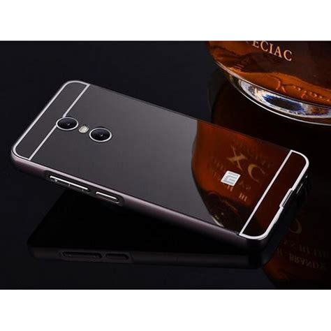 Bumper Mirror Xiomi Note 2 aluminium bumper with mirror back cover for xiaomi redmi note 4 black jakartanotebook