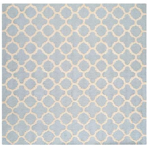 4 square rug safavieh cambridge light blue ivory 4 ft x 4 ft square area rug cam130a 4sq the home depot
