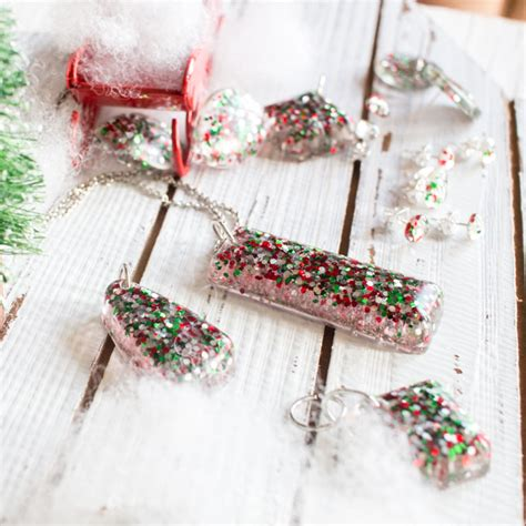 materials needed for jewelry glitter diy resin stud earrings and pendants