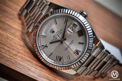 date on day introducing the rolex day date 40 with the new calibre