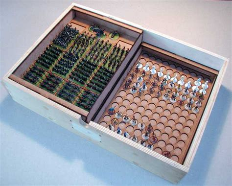 Cake Cases 60mm Base 25mm Bunga wargames figure chest insert warmaster 12 units command sally 4th