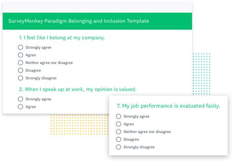 survey monkey template belonging and inclusion survey template surveymonkey