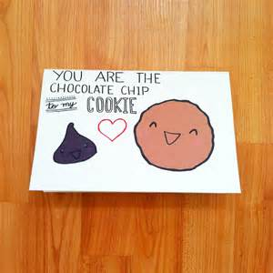 valentines day card for boyfriend s day card i made for my cookie lovin