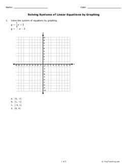 printable graph paper for linear equations solving systems of linear equations by graphing grade 10