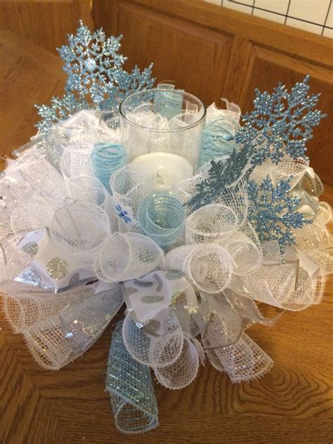 winter candle rings 17 best ideas about snowflake centerpieces on winter centerpieces winter