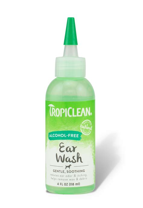 ear rinse tropiclean free ear wash tropiclean pet products for dogs and cats