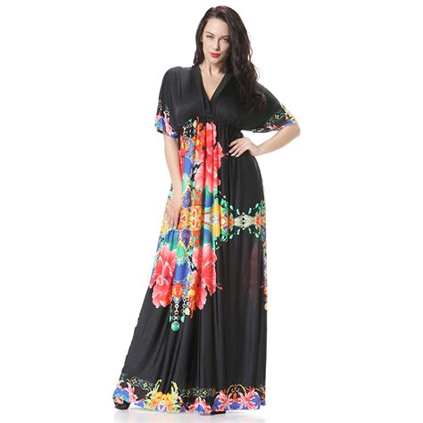 Dress Flower Big Size aliexpress buy maxi dress 5xl 6xl plus size summer dresses big size