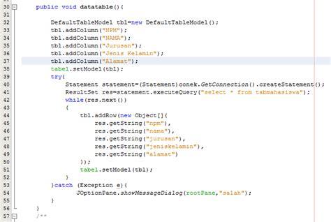 membuat database mahasiswa membuat form data mahasiswa java netbeans koneksi database