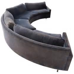Sofa Curved Milo Baughman Curved Sofa At 1stdibs