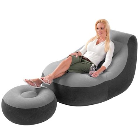 inflatable chair and ottoman inflatable sofa chair adult bean bag soft light beanless