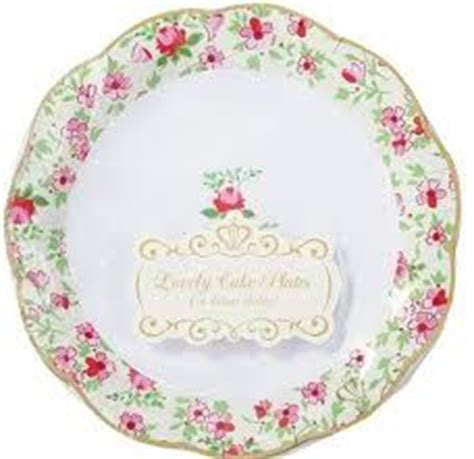 shabby chic paper plates google search baby shower