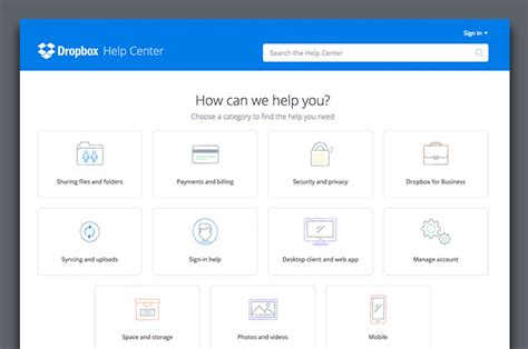 Dropbox Help | 4 knowledge base exles that get it right