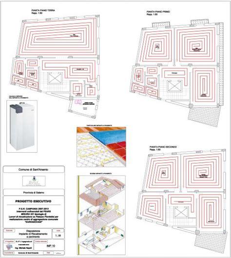 schema impianto riscaldamento a pavimento sipi ingegneria lavori eseguiti