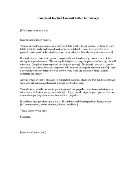 Letter Of Consent In Research Sle Consent Letter Format Best Template Collection