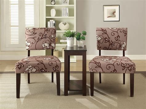 Side Accent Chairs new 3 pc accent chairs side chair table set large flower