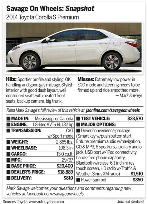 2014 Toyota Corolla Fuel Capacity Corolla 2015 Fuel Tank Capacity Autos Post