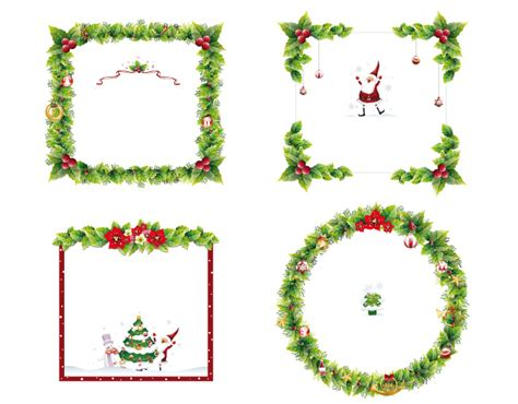 cornici foto natalizie cornici natalizie frames 1 vettoriali gratis