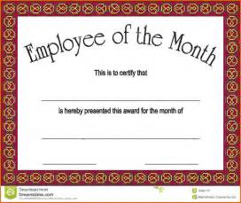 employee of the month template employee of the month certificatesreference letters words