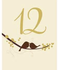 Bird Number Bird Table Number Cards 6 60 Weddingfavours Ca
