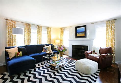 chevron living room rug chevron rug living room blue with yellow curtains