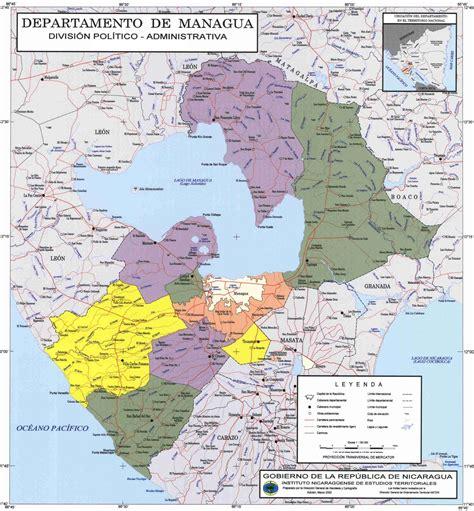 managua nicaragua map managua map world of map