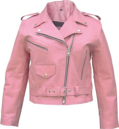pink leather motorcycle jacket arrow full cut ladies pink motorcycle jacket