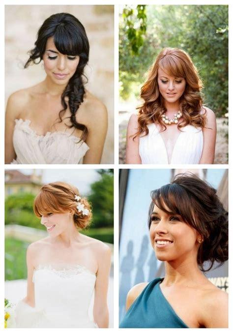 Diy Wedding Hairstyles With Bangs by 36 Pretty Bridal Hairstyle Ideas With Bangs Happywedd