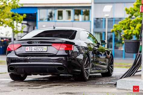 Audi Rs5 Coupe Black by Audi Rs5 Vossen Wheels Black Cars Coupe Wallpaper