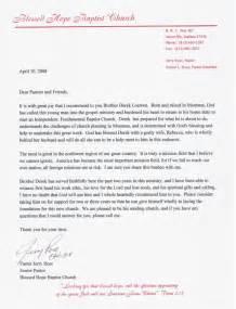 Pastors Letter Of Recommendation