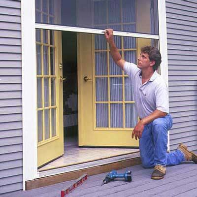 Installing A Sliding Screen Door by Test The Screen Door How To Install A Retractable Screen