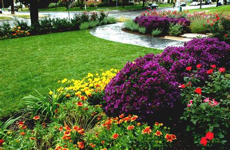 Landscape Flowers Lovely Front Yard Flower Garden Ideas With Colourful
