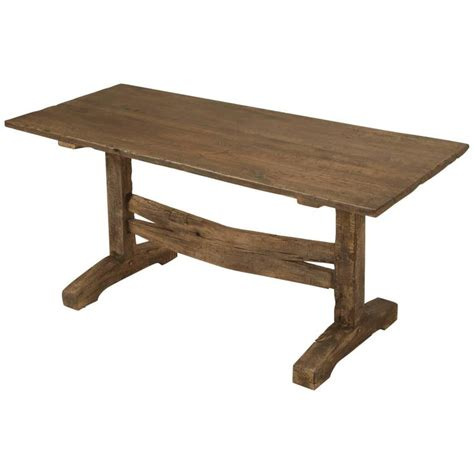 Antique Trestle Dining Table Antique Trestle Dining Or Kitchen Table Circa 1800s For Sale At 1stdibs