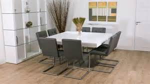 8 Seater Square Dining Table And Chairs White Oak Square Dining Set Glass Table Legs Leather Quilted Chairs