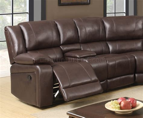 Leather Motion Sectional Sofa U96180 Motion Sectional Sofa In Brown Bonded Leather By Global