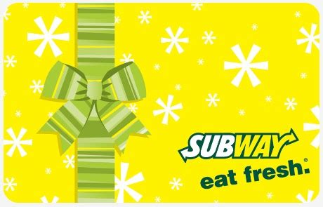 Subway Gift Card Deals - subway december deals 2 subway subs plus 20 subway gift card giveaway coupon