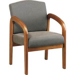 Wooden Desk Chair With Arms Office Products Work Smart Wooden Guest And Reception