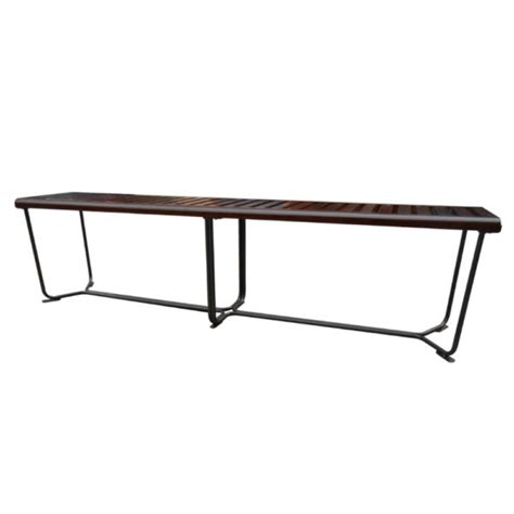wood bench with metal legs sd027 wooden 72 bench with metal legs city schemes contemporary furniture