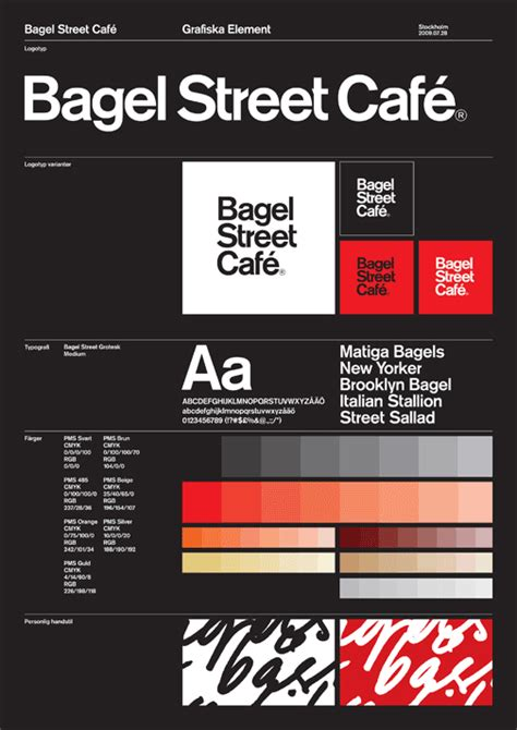 graphic design guidelines cafe visual identity my design central