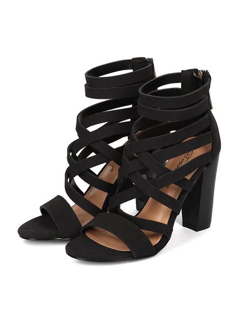 strappy sandal heel costumes breckelles ga94 leatherette open toe
