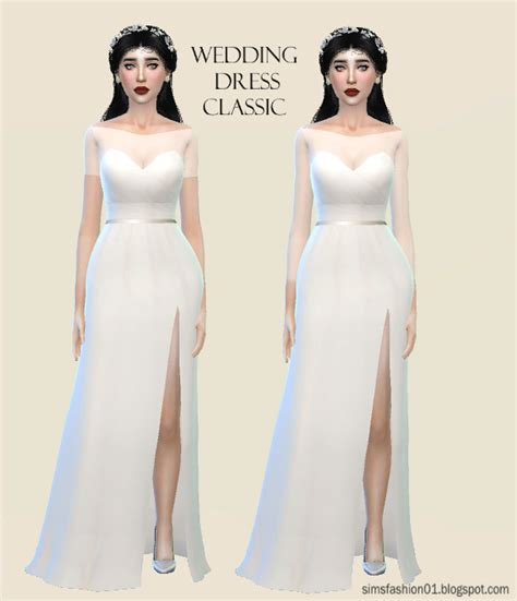Wedding Dress The Sims 4 by Sims Fashion01 Simsfashion01 Satin Wedding Dress The