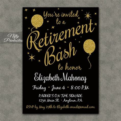 Free Printable Retirement Invitations 20 Best Retirement Flyers Images On