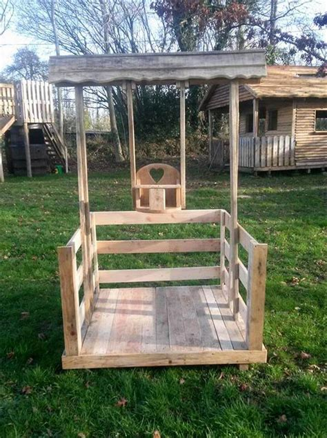 pallet swing set pallet balancelle lounger for kid s up to 2 year old
